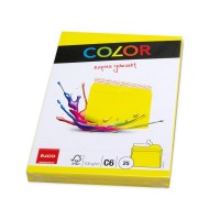 Elco Color C6 Envelope intense yellow without window, adhesive closure