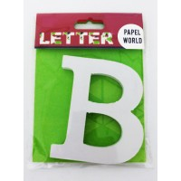 "Wooden Letters White ""B"""