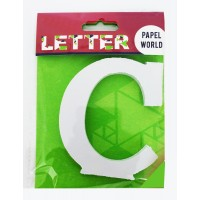 "Wooden Letters White ""C"""