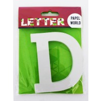 "Wooden Letters White ""D"""