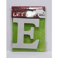 "Wooden Letters White ""E"""