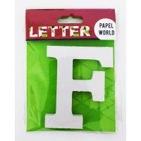 "Wooden Letters White ""F"""