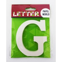 "Wooden Letters White ""G"""