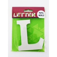 "Wooden Letters White ""L"""