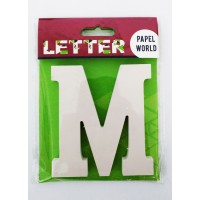 "Wooden Letters White ""M"""