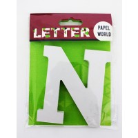 "Wooden Letters White ""N"""