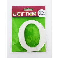 "Wooden Letters White ""O"""