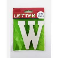 "Wooden Letters White ""W"""