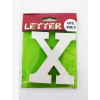 "Wooden Letters White ""X"""