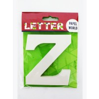 "Wooden Letters White ""Z"""