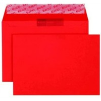 Elco Color C6 Envelope intense red without window, adhesive closure