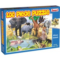 SMART-AFRICAN ANIMALS 100 PC PUZZLE