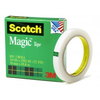 Scotch Magic Tape in Box 810-3472. 3/4 x 72 yd (19mm x 66m). 1 roll/box
