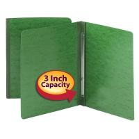 SMEAD PRESSGUARD® REPORT COVER, METAL PRONG WITH COMPRESSOR SIDE FASTENER 3 INCH CAPACITY GREEN