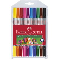 FABER-CASTELL Double-Ended Felt Tip Pens Wallet of 10