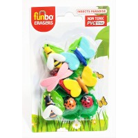 Funbo 3D Eraser in Blister Pack-Insect