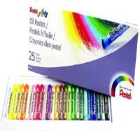Pentel PHN-25AM Oil Pastel Set 25 Color-New Packing