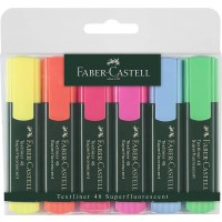 FABER-CASTELL Classic Highlighter Wallet of 6 (Y+B+P+G+O+R)