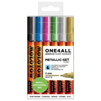 MOLOTOW™ 127HS Metallic-Set - 2mm, Pkt of 6