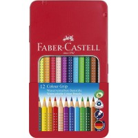 FABER-CASTELL GRIP COL.PENCIL 12COL TIN
