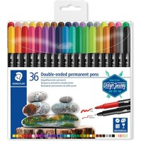 Staedtler Double-end Permanent Fibre Tip  Set of 36 Color (3187-TB)