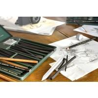 FABER-CASTELL PITT Monochrome Charcoal Pencils Black Soft(6PC-PK)