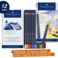 FABER-CASTELL Colour pencil perm. Goldfaber tin of 12