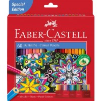 FABER-CASTELL Colour Pencil Castel 60 Colours