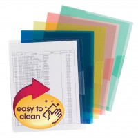 SMEAD ORGANIZED UP® POLY TRANSLUCENT PROJECT FILE JACKET ASSORTED COLORS