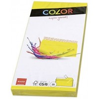 Elco Color C5/6 Envelope intense yellow without window, adhesive closure
