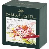 FABER-CASTELL PITT ARTIST Pen Broad Box of 48pc