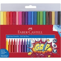 FABER-CASTELL Grip Color Markers Set of 20pc