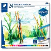 Staedtler Coloured pencil aquarell Metal Set of 24 Color