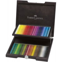 FABER-CASTELL Polychromos Artists Color Pencils Wenge-Stained Wood case of 72color