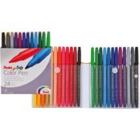 Pentel S360 Color Pens Fibre Tip Set of 24Colors