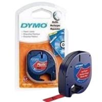 DYMO TP 12MMX4M LT PLASTIC RED(91203)