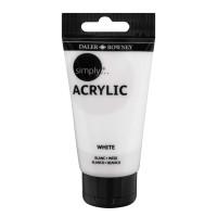 Daler-Rowney Simply Acrylic 75 Milliliter White Paint Tube