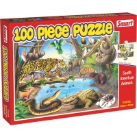 SMART-SOUTH AMERICAN ANIMALS 100 PC PUZZLE