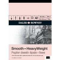 Daler Rowney Sketching Smooth Heavyweight Cartridge Pad (25sht/220gsm) A2