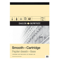 Daler Rowney Sketching Smooth Cartridge Pad (30sht/130gsm, acid free) A2