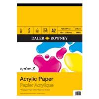 Daler Rowney System 3 Acrylic Pad 20sht 230g A2