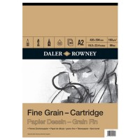 Daler Rowney Sketching Fine Grain Cartridge Pad (30sht/160gsm) A2