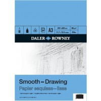 Daler Rowney Drawing Pads Smooth 12sht/96g/m2 size A3