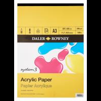 Daler Rowney System 3 Acrylic Pad 20sht 230g A3