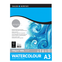 Daler Rowney Simply Watercolour Pad 12sht 190gsm A3
