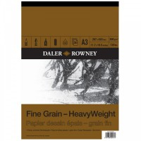 Daler Rowney Sketching Fine Grain Heavyweight Pad (30sht/200gsm) A3