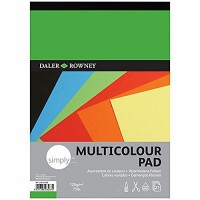 Daler Rowney Simply Multicoloured paper 21sht 120gsm A3