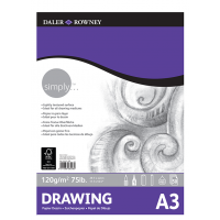 Daler Rowney Simply Drawing Pad 50sht 120gsm A3