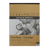Daler Rowney Sketching Fine Grain Cartridge Pad (30sht/160gsm) A3