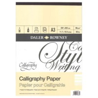 Daler Rowney Calligraphy Pad 30sht 90gsm A3